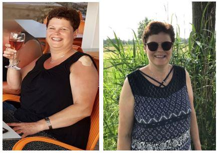 Dorine voor en na programma bij Body-S